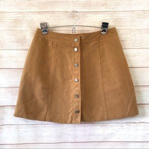 DIVIDED BY H&M Suede A-line Mini Skirt 6